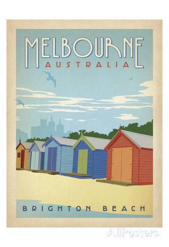 Melbourne, Australia: Brighton Beach Prints by Anderson Design Group at AllPosters.com