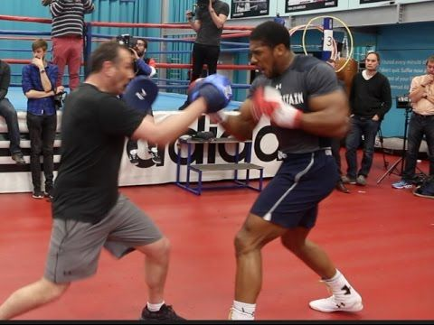 MAX SPORTS: BOXING: ANTHONY JOSHUA TRAINING WITH ROB MCCRAKEN ...