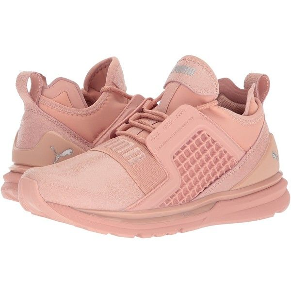 13588b239aa1 PUMA Ignite Limitless Metallic Suede (Peach Beige) Women s Shoes (€96) ❤