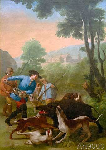 Francisco Goya - La caza del jabalí