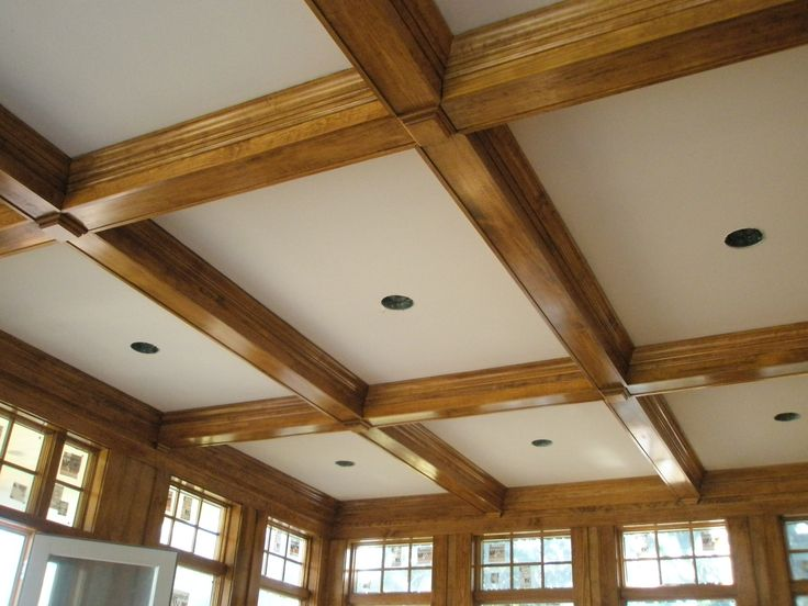 19 best paneled walls and coffered ceiling ideas images on for Wood trim ceiling ideas