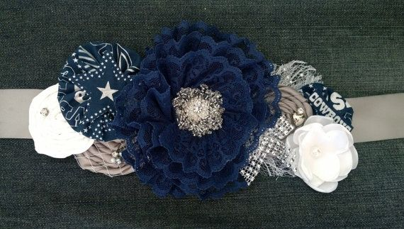 Dallas Cowboys Maternity Sash Pregnancy by BridalBlingNBowtique