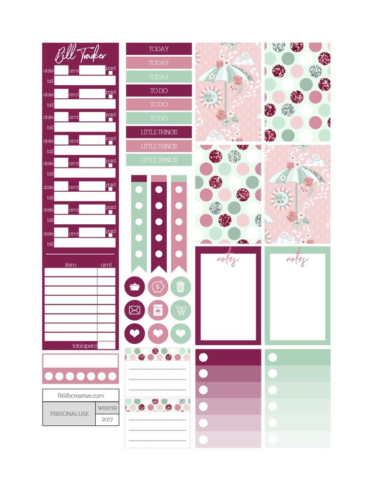 Sun and Moon Planner Stickers - Fit Life Creative