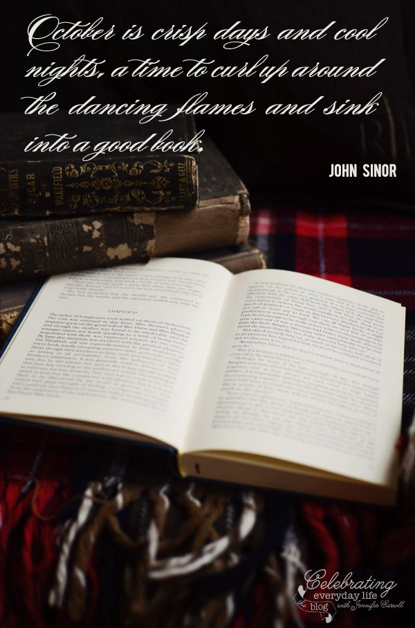 """October is..."" inspiring Quote by John Sinor"
