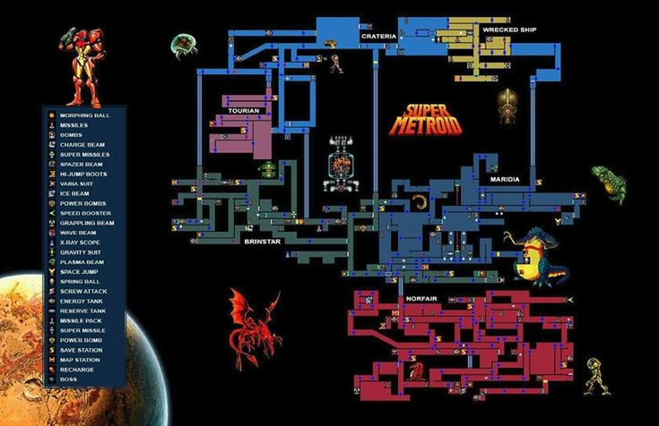 Super Metroid Map posted by @NowWeAreNowhere