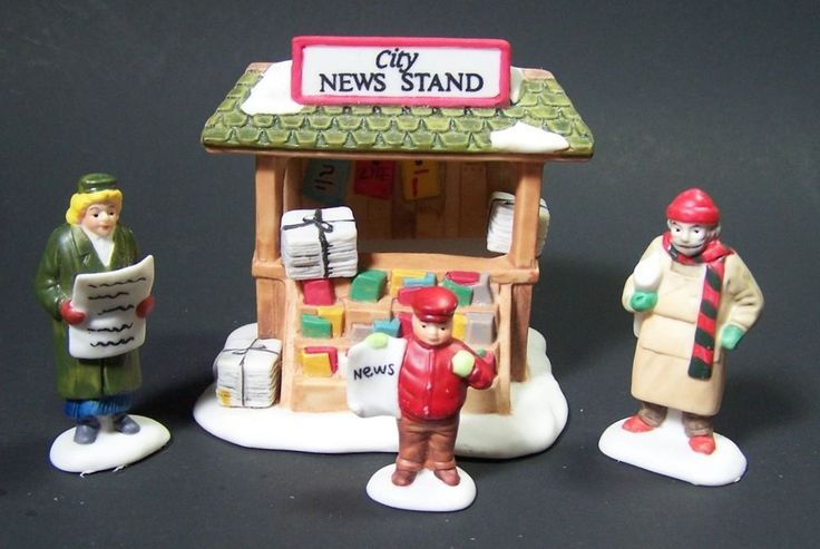 City News Stand Heritage Village Collection Christmas in the City Retired 5971-4 #Dept56