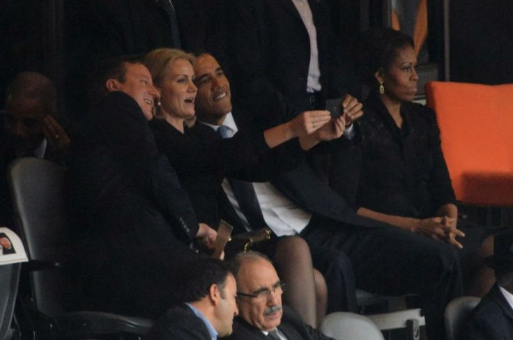 Politics and Selfies-When is a selfie appropriate, when is a selfie innapropriate? There is a fine line to toe, between right and wrong, in this new era of technology. President Obama has recieved a lot of criticism for the selfie he took with the Danish Prime Minister during Nelson Mandela's funeral. Personally, I believe that it was too much, and fairly disrespectful to the entire funeral process. This selfie was a big deal-the president taking selfies shows the imprtance of this culture.