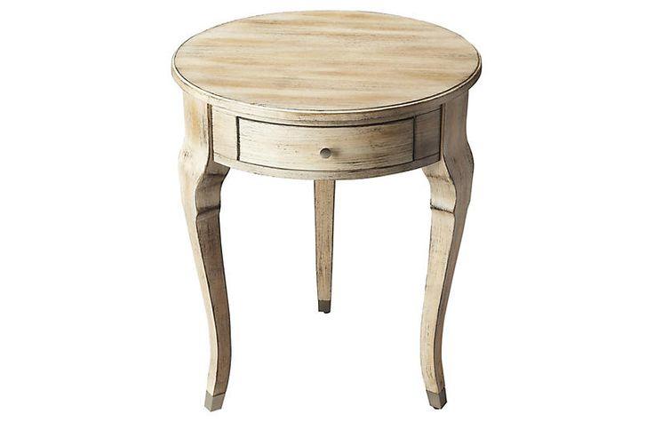 Madison Round Nightstand, Driftwood $325.00