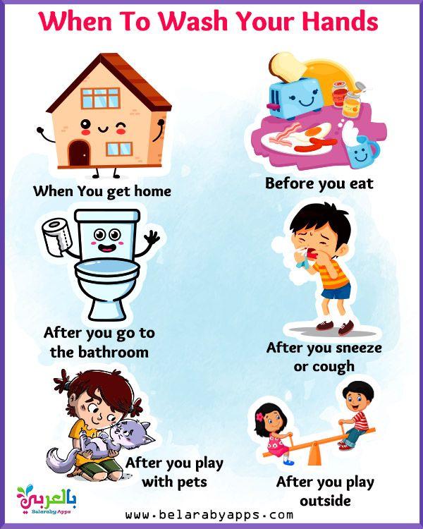 Printable Hand Washing Posters For Kids Belarabyapps In 2020 Hand Washing Poster Healthy Habits Kindergarten Kids Coping Skills