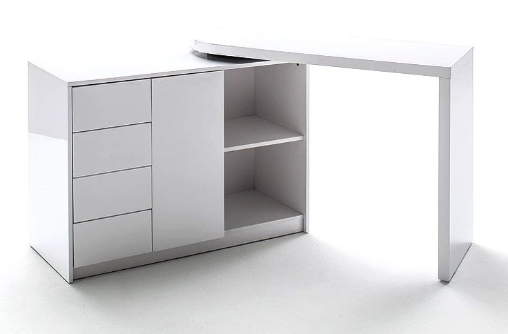 Best 20 bureau pivotant ideas on pinterest - Bureau d angle laque blanc ...