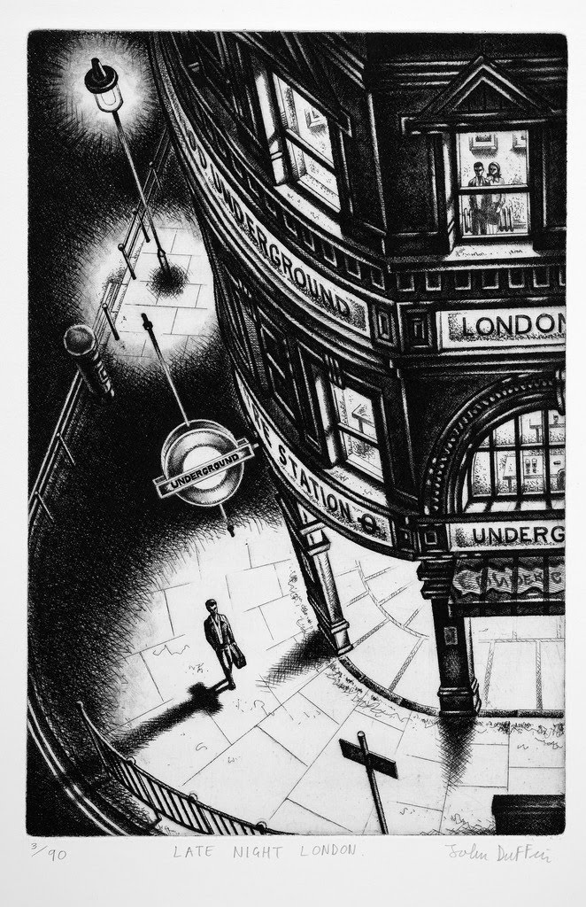 John Duffin  Late Night London, 2011  Etching  Edn 90  195 GBP