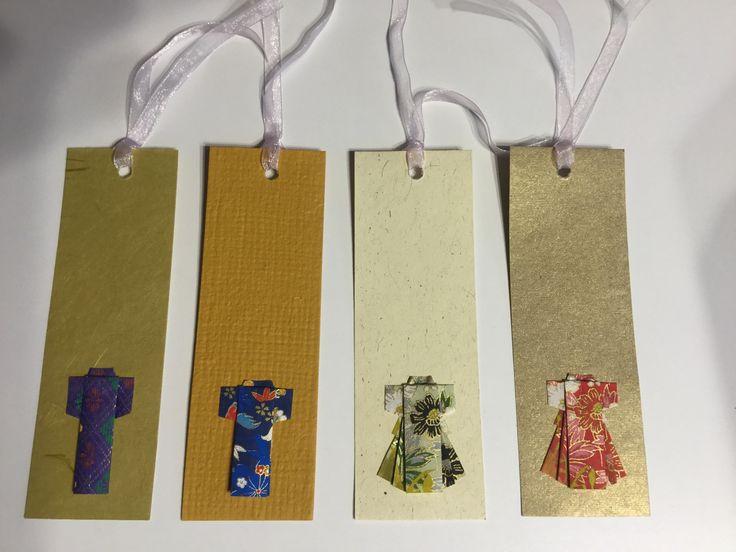 Bookmarks with kimono