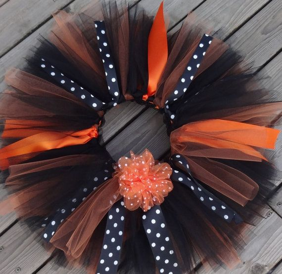 Halloween Tutu/Black Tutu/Orange Tutu/Baby by TheCheekyCrows