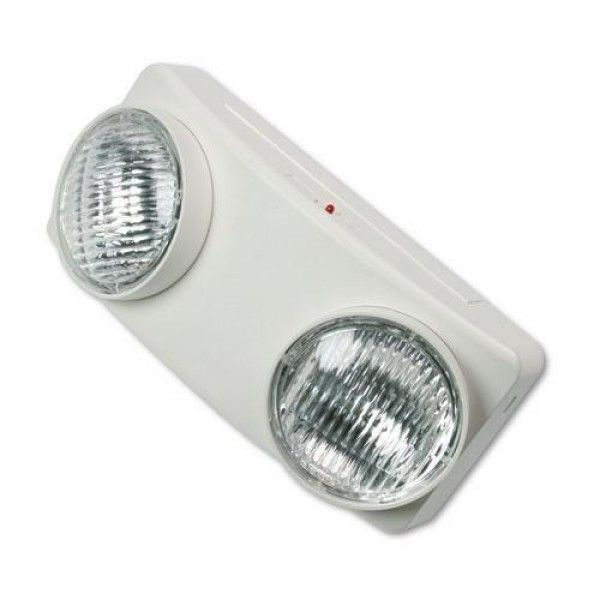 """TATCO Swivel Head Twin Beam Emergency Lighting Unit, Polycarbonate Case, 5-1/2, White (70012)  Compliance Standards:Life Safety Code,NEC,OSHA Compliant,UL Listed Product Type:#Lamps-Security Depth:4 Width:12 1/8"""" Height:5 1/2"""" Light Type:LED Bulb Included:Yes"""