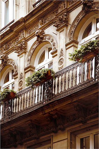 Paris Façade. Argentina is full of this style architecture. You can see the French influence on nearly every street of any major city! (especially in Buenos Aires)
