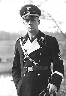 """Joachim von Ribbentrop,  Foreign Minister. He participated in  aggressive plans against Czechoslavakia and helped plan attacks on Poland and Russia. Von Ribbentrop also played a role in the """"Final Solution"""" when he acted to hasten the deportation of Jews to concentration camps in the East."""