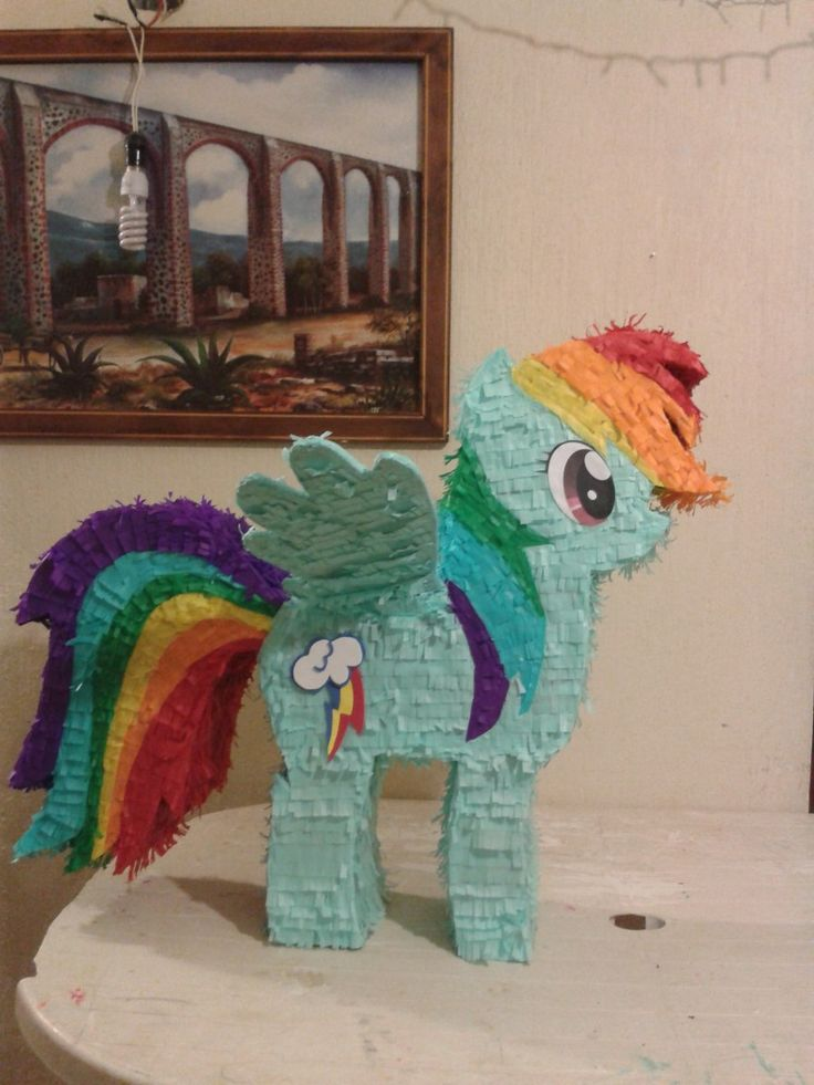 Piñatas My Little Pony Rainbow Dash Caricaturas - $ 349.00 en MercadoLibre