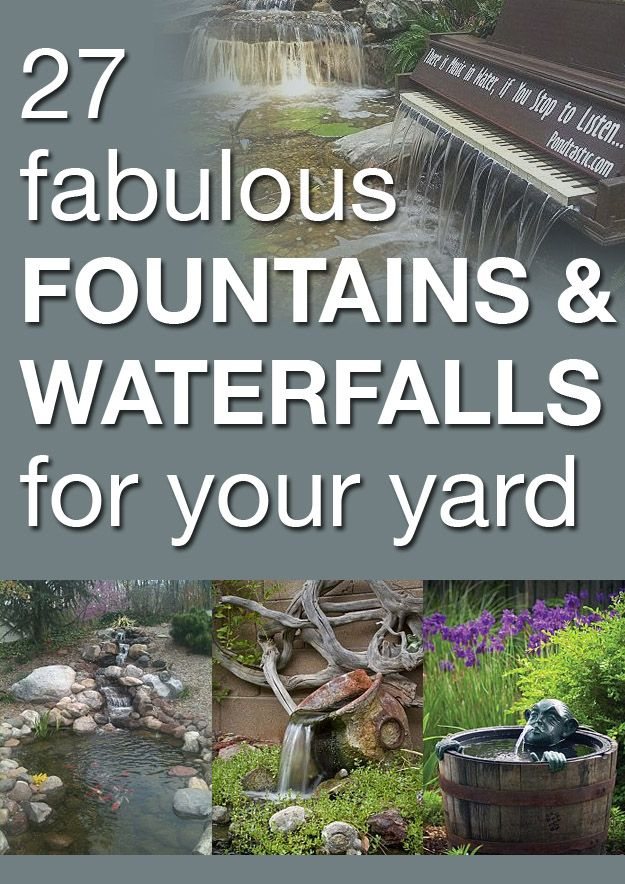 27 fabulous fountains and waterfalls for your yard- http://www.waldenfarmandranch.com/ has the fish you need to stock your pond!