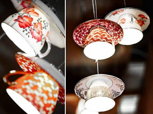 22 moderne h ngeleuchten die sie selbst basteln k nnen upcycling lampshade ideas and antique. Black Bedroom Furniture Sets. Home Design Ideas