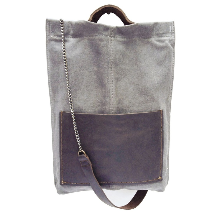 canvas & leather tote <3
