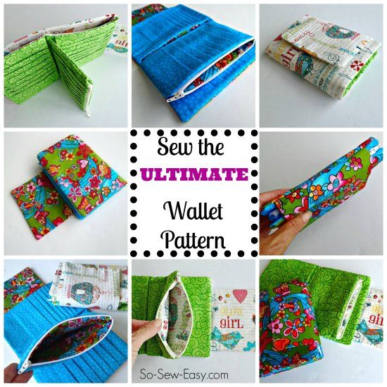 The Ultimate wallet sewing pattern. Space for 28 cards, coins, notes, receipts, list etc. Looks like a fun pattern.