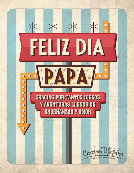 Happy father's day // Feliz día Papá   // #FathersDay #DiadelPadre #FelizDiadelPadre #Illustration #Ilustracion #Retro