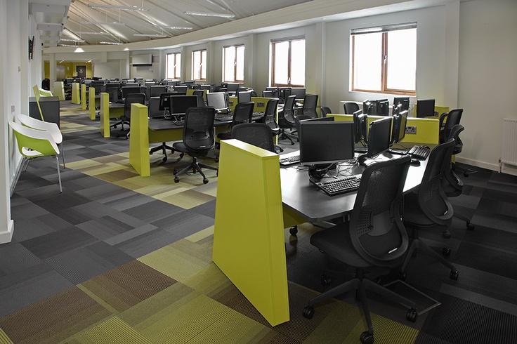 Custom-designed IT desks, 4th floor, Boots Library, Nottingham Trent University