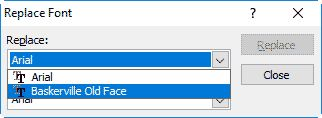 Replace #Fonts in #PowerPoint 2010 for Windows
