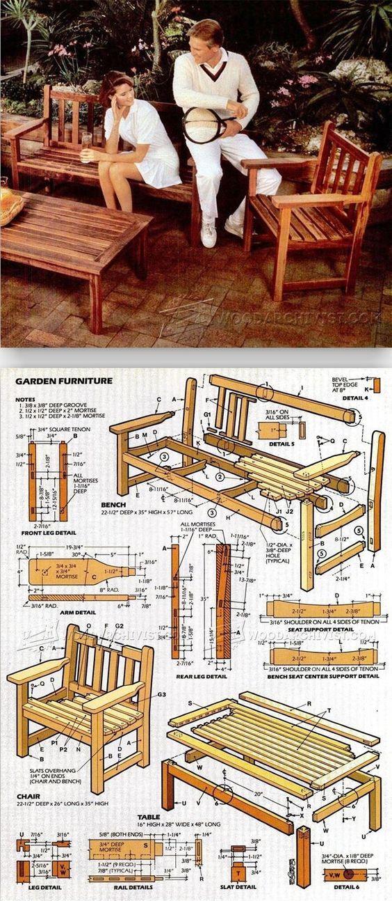 English garden furniture plans outdoor furniture plans for Proyectos de carpinteria pdf