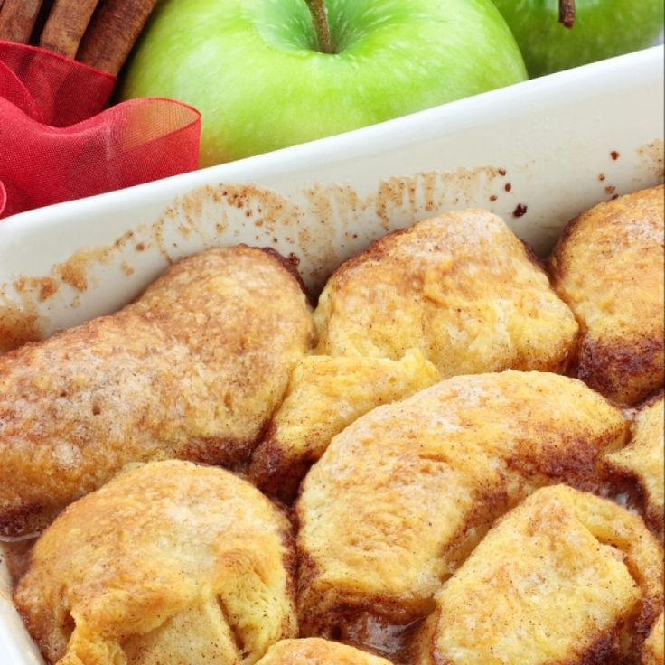 A Delicious recipe for apple dumplings, Served hot with vanilla ice cream.. Apple Dumplings Recipe from Grandmothers Kitchen. Follow us on Pinterest.