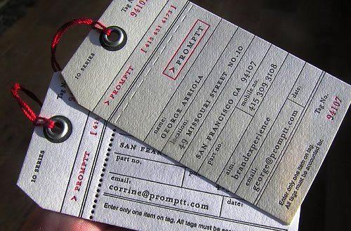 Desain Kartu Nama Unik tidak Biasa | paper printed label like business card