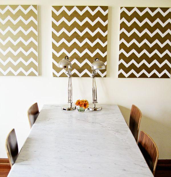 les 13 meilleures images du tableau design ideas sur pinterest mur au pochoir mur g om trique. Black Bedroom Furniture Sets. Home Design Ideas