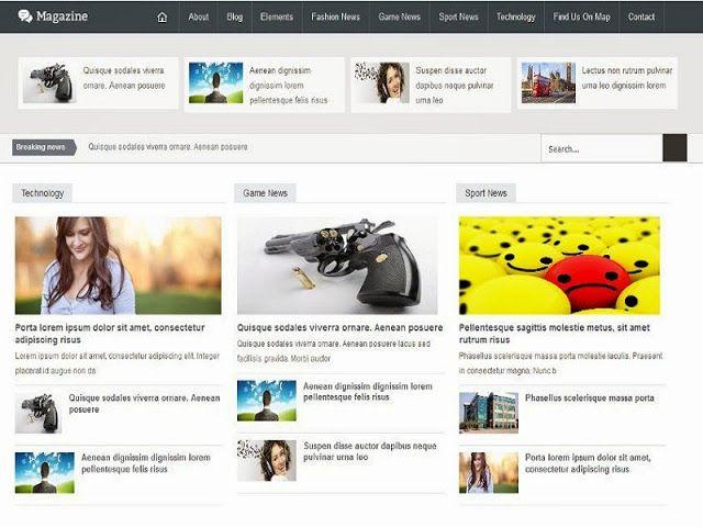 Free Template Blogger Magazine Responsive