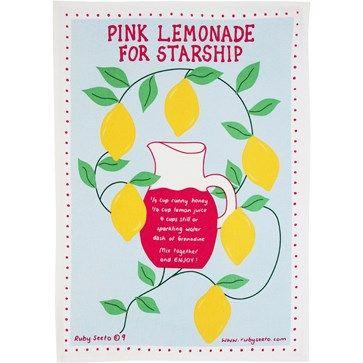 Pink Lemonade Tea Towel - Wallace Cotton