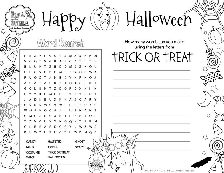 happy halloween coloring pages games - photo#10