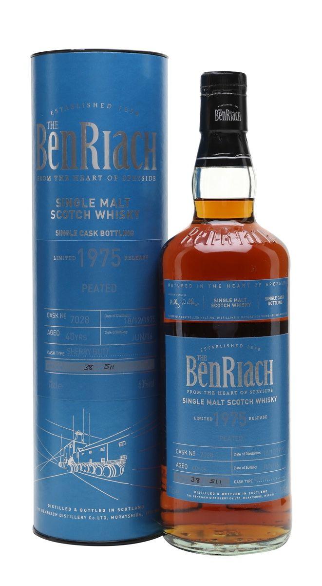 Benriach 1975 40 Year Old Peated Sherry Cask Speyside Tragos Y Bebe