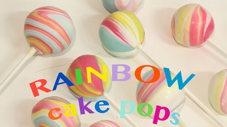 how to make rainbow cake pops