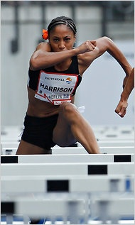 Hurdler Queen Harrison Has Sights Set on 2012 Olympics - NYTimes.com