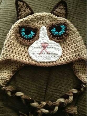 Grumpy cat beanie