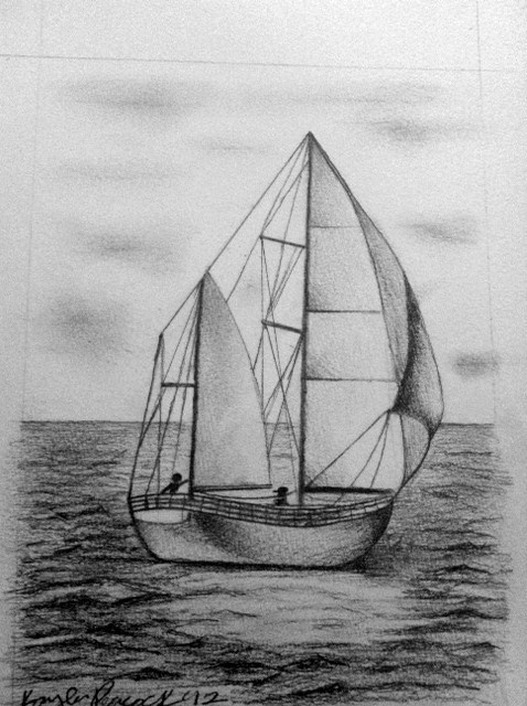 Sailboat Sketch. | Sketches and art! | Pinterest ...