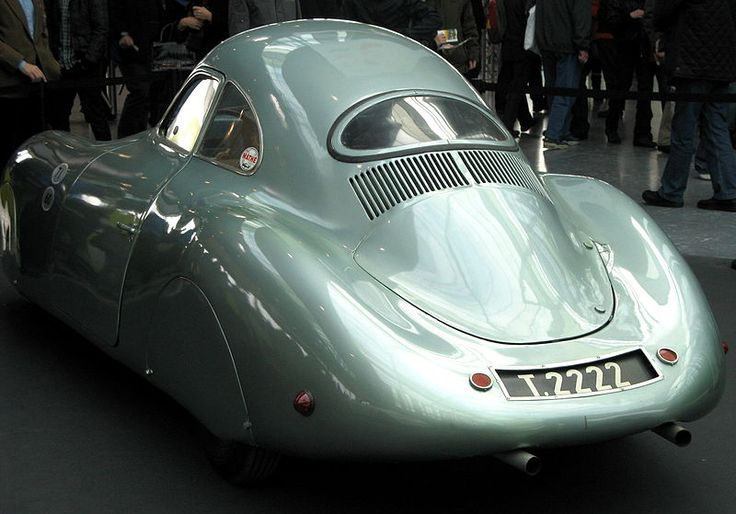 1939 Porsche Type 64. Built for the Berlin-Rome long-distance race. Boxer-4, 1131cc/69cu.in. 24.6kw/33bhp. Ferdinand Porsche was known to drive it on the street as well.