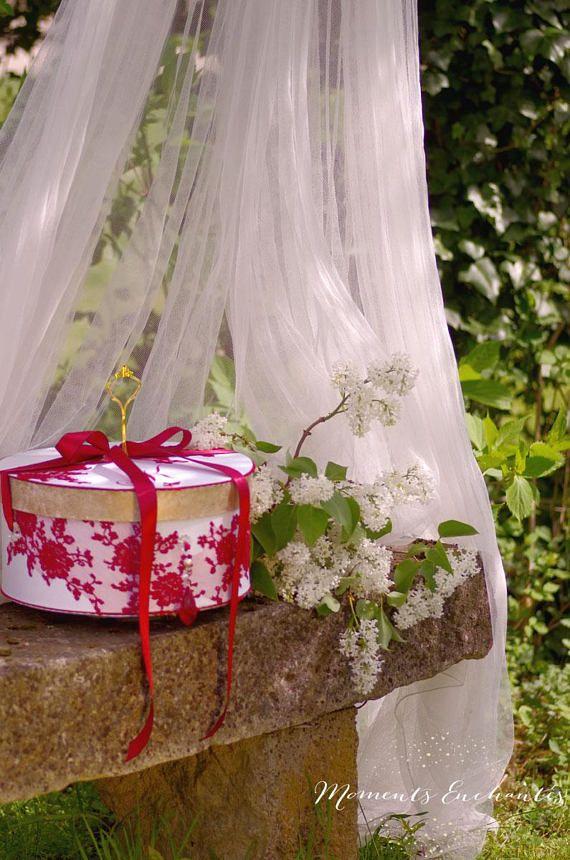 Votre coffret  mariage  urne dentelle boite à dons dentelle de