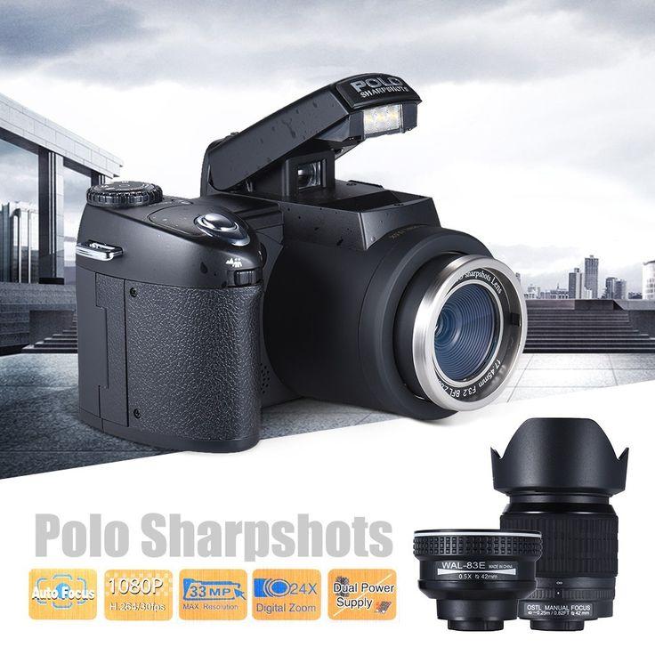 Camera Polo Sharpshots, AF, 33MP, 1080P FHD, SD 128Gb, cu 3 obiective