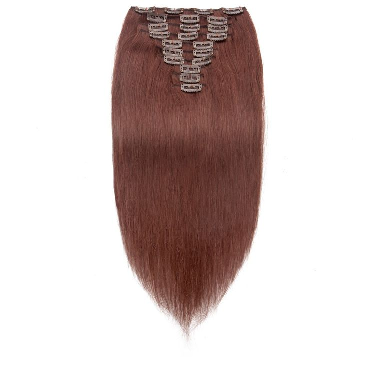 208 best clip in human hair extensions images on pinterest human 10pcs straight clip in remy hair extensions 33 rich copper red hair material pmusecretfo Choice Image