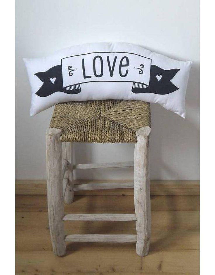 A Little Lovely Company Tweezijdig kussen Love & Dream