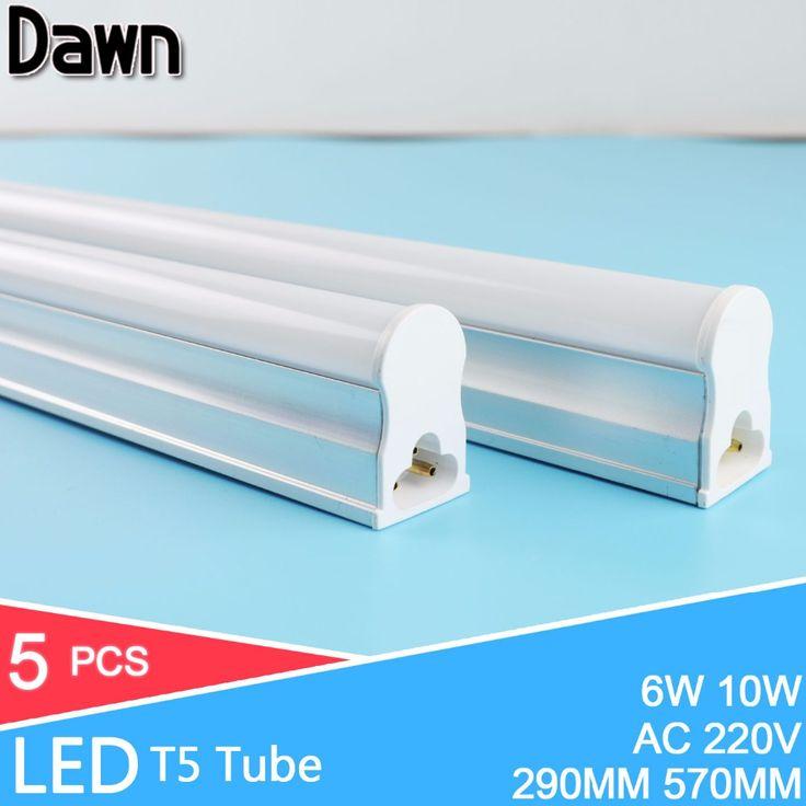 5Pcs/Lot 2ft 60CM LED Tube 10W LED T5 Tube Lampada LED 220v 240v 600MM 2835 5730 SMD LED Bulbs Lights Lamps lampe fluorescente #Affiliate