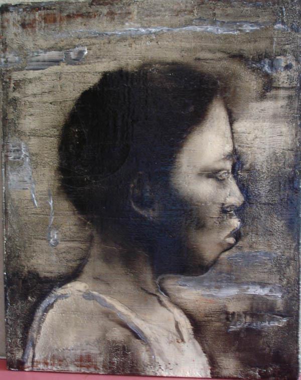 Federico Guida  S.T., mista su tela, cm 50 x 40, 2001    FEDERIGO GUIDA  Nato a Milano nel 1969 dove vive e lavora.