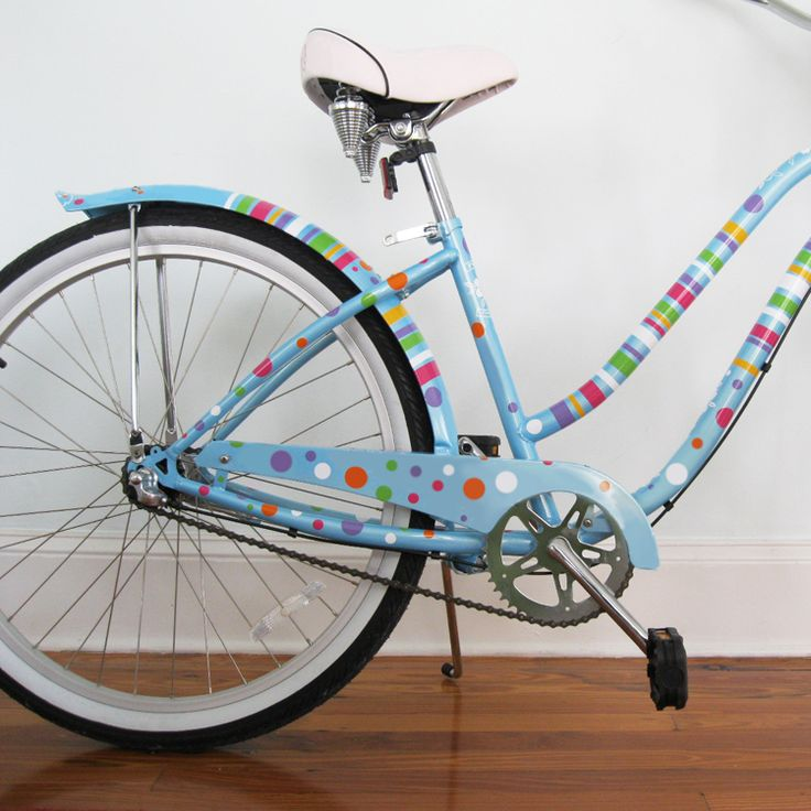 Polka Dots & Stripes - Bike Bicycle Beach Cruiser Decals Stickers Graphics
