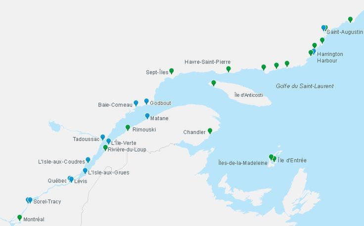 Coordonnées - Traverse L'Isle-aux-Coudres–Saint-Joseph-de-la-Rive- Société des traversiers du Québec