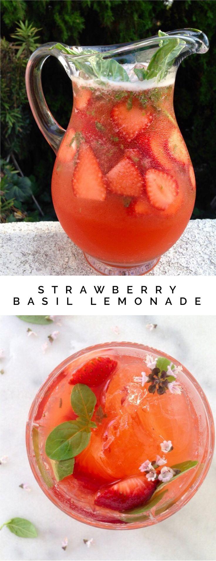 Strawberry Basil Lemonade | CiaoFlorentina.com